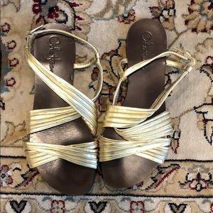 Cole Haan Gold Sandals 7.5